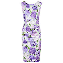 Buy Kaliko Blurred Floral Shift Dress, Purple/Multi Online at johnlewis.com