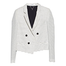 Buy Mango Striped Blazer, Natural White Online at johnlewis.com