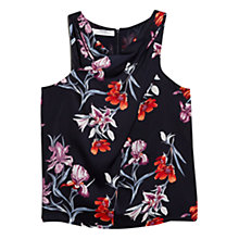 Buy Mango Floral Cross-Body Top, Navy Online at johnlewis.com