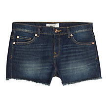 Buy Mango Denim Shorts, Open Blue Dark Online at johnlewis.com