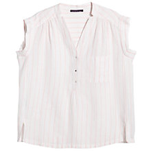 Buy Violeta by Mango Striped Blouse, Light Pastel Orange Online at johnlewis.com