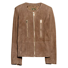 Buy Violeta by Mango Zip Pocket Suede Jacket Online at johnlewis.com