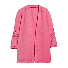 Buy Violeta by Mango Embellished Linen Kaftan Online at johnlewis.com
