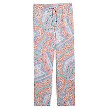 Buy Violeta by Mango Print Baggy Trousers, Light Pastel Orange Online at johnlewis.com
