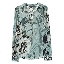 Buy Violeta by Mango Floral Cotton Blouse, Medium Green Online at johnlewis.com