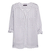 Buy Violeta by Mango Buttoned Blouse, Kestral White Online at johnlewis.com