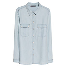 Buy Violeta by Mango Tencel Shirt, Light Pastel Blue Online at johnlewis.com