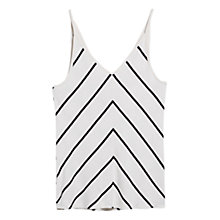 Buy Mango Striped Camisole, Natural White Online at johnlewis.com