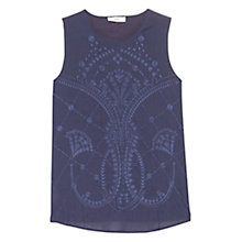 Buy Mango Embroidered Cotton Top Online at johnlewis.com