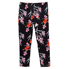 Buy Mango Cropped Floral Slim Fit Trousers, Navy/Multi Online at johnlewis.com