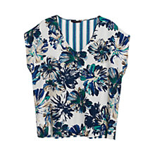 Buy Violeta by Mango Mixed Print Blouse, Medium Blue Online at johnlewis.com