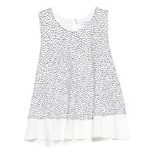 Buy Mango Printed Double Layer Top, Natural White Online at johnlewis.com