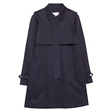 Buy Mango Cotton Blend Trench Coat, Navy Online at johnlewis.com