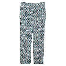 Buy Violeta by Mango Printed Trousers, Turquoise/Aqua Online at johnlewis.com
