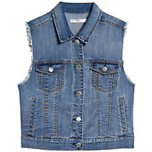 Buy Mango Denim Gilet, Open Blue Online at johnlewis.com