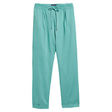 Buy Violeta by Mango Ramie-Blend Baggy Trousers Online at johnlewis.com