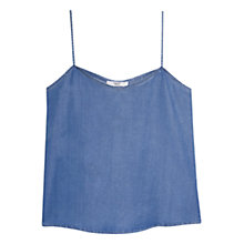Buy Mango Soft Denim Top, Open Blue Online at johnlewis.com