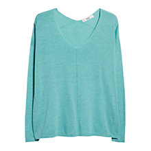 Buy Mango Trimmed Cotton-Blend Jumper Online at johnlewis.com