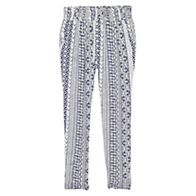 Buy Mango Mosaic Baggy Trousers, Navy Online at johnlewis.com