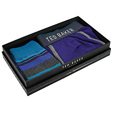 Buy Ted Baker Striped Sock and Blue Boxer Gift Set, Blue Online at johnlewis.com