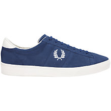 Buy Fred Perry Spencer Suede Trainers, Blue Online at johnlewis.com