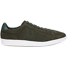 Buy Fred Perry Hopman Suede Trainers, Green Online at johnlewis.com