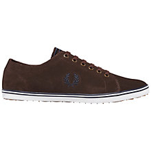 Buy Fred Perry Kingston Suede Trainers, Charcoal Online at johnlewis.com