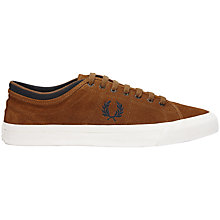 Buy Fred Perry Kendrick Suede Trainers, Ginger Online at johnlewis.com