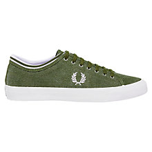 Buy Fred Perry Kendrick Tipped Cuff Dyed Canvas, Forest Night Online at johnlewis.com