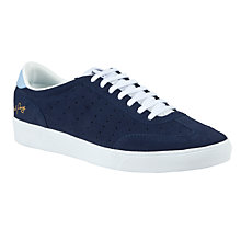 Buy Fred Perry Umpire Suede Trainers, Blue Online at johnlewis.com