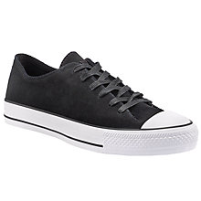 Buy Converse Chuck Taylor All Star Sawyer Leather Trainers, Black Online at johnlewis.com