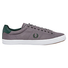Buy Fred Perry Howells Twill Trainers, Grey Online at johnlewis.com