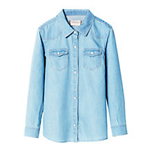 Buy Mango Kids Girls' Denim Shirt, Light Blue Online at johnlewis.com