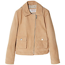Buy Mango Kids Girls' Suede Jacket, Brown Online at johnlewis.com