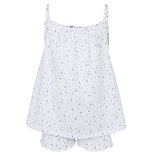 Buy John Lewis Girl Pretty Star Print Pyjamas, Cream Online at johnlewis.com