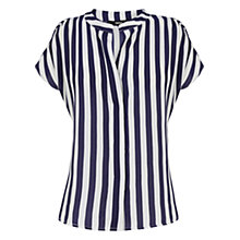 Buy Oasis Relaxed Stripe Shirt, Blue/White Online at johnlewis.com