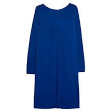 Buy Violeta by Mango Trim Shift Dress, Bright Blue Online at johnlewis.com