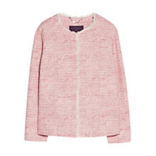 Buy Violeta by Mango Frayed Edges Jacket, Bright Red Online at johnlewis.com