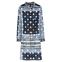 Buy Violeta by Mango Printed Shirt Dress, Bright Blue Online at johnlewis.com