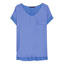 Buy Violeta by Mango Panel Detail T-Shirt Online at johnlewis.com