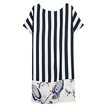Buy Violeta by Mango Stripe and Flower Print Tunic Dress, Navy Online at johnlewis.com