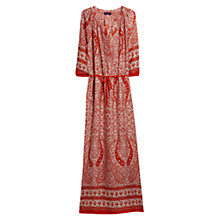 Buy Violeta by Mango Printed Long Dress, Bright Red Online at johnlewis.com