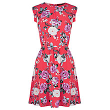 Buy Oasis Rose Skater Dress, Coral Online at johnlewis.com