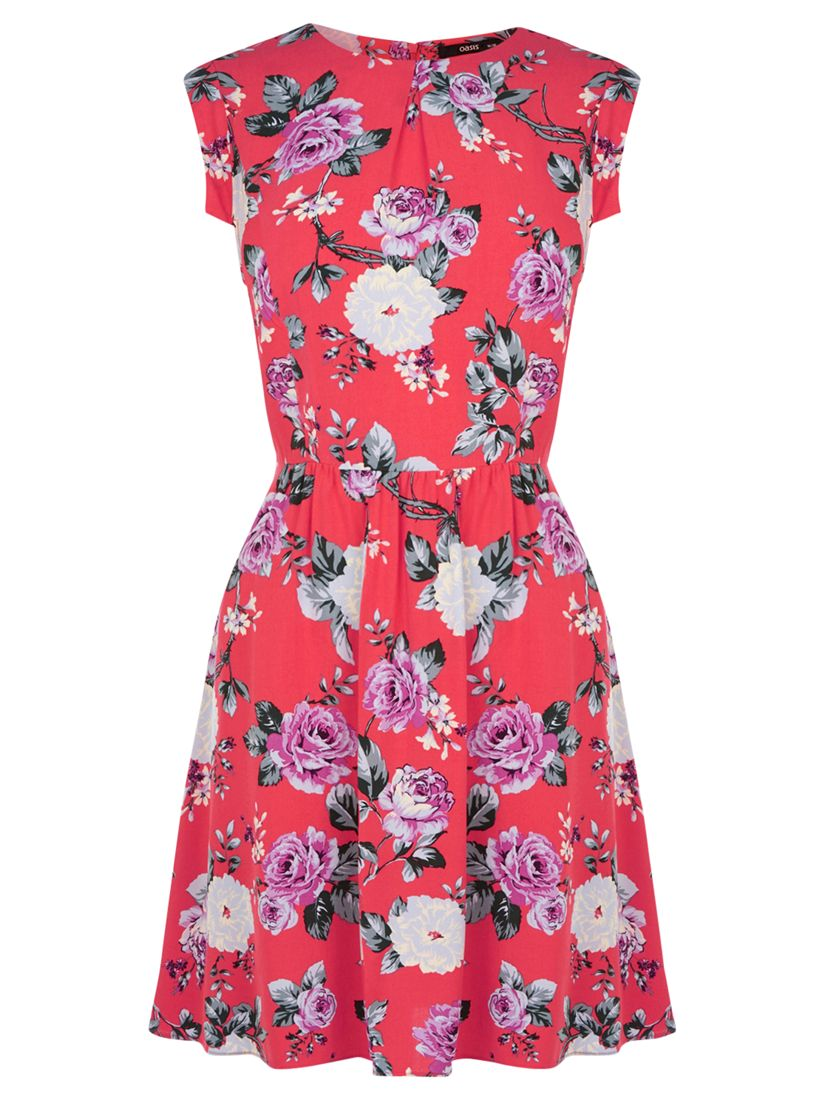 oasis rose skater dress coral, oasis, rose, skater, dress, coral, 14|16|12|10|8, women, womens dresses, new in clothing, 1938191