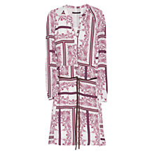 Buy Violeta by Mango Belt Printed Tunic Dress, Cherry Online at johnlewis.com