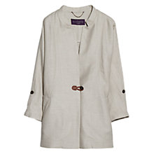 Buy Violeta by Mango Oversize Ramie-Blend Jacket, Light Beige Online at johnlewis.com