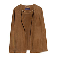 Buy Violeta by Mango Laser-Cut Suede Jacket, Dark Brown Online at johnlewis.com