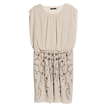 Buy Violeta by Mango Sequin Skirt Dress, Pastel Brown Online at johnlewis.com