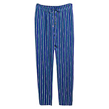 Buy Violeta by Mango Stripe Print Baggy Trousers, Electric Blue/Purple Online at johnlewis.com