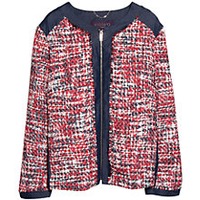 Buy Violeta by Mango Boucle Jacket, Orange/Multi Online at johnlewis.com